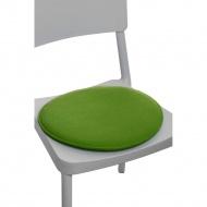 Poduszka na krzesło okrągła zielona_jasn