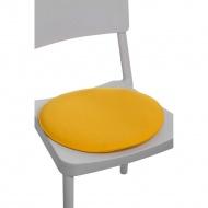 Poduszka na krzesło okrągła żółta
