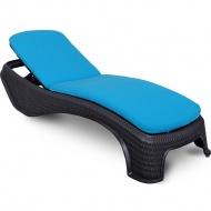 Poduszka na leżankę ogrodową 186x56cm Atlantic Bazkar niebieska