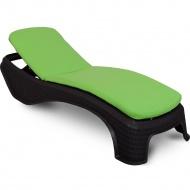 Poduszka na leżankę ogrodową 186x56cm Atlantic Bazkar zielona