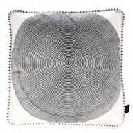 Poduszka Ricamo 45x45cm Miloo Home Vabene czarno-biała