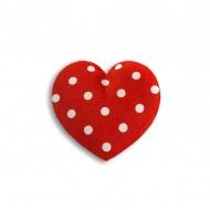 Poduszka termiczna Serce Leschi mała polka dot red