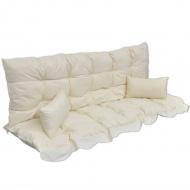 Poduszki na huśtawkę ogrodową, kremowe