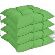 Poduszki na krzesła, 4 szt., 40x40x8 cm, zielone