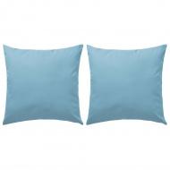 Poduszki na zewnątrz, 2 sztuki, 60 x 60 cm, błękitne