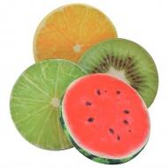 Poduszki z nadrukiem owoców, 4 szt., wielokolorowe