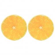 Poduszki z nadrukiem pomarańczy, 2 szt.