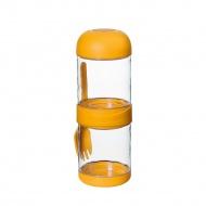 Podwójne pudełko na lunch z widelcem 2x330 ml Cilio żółte