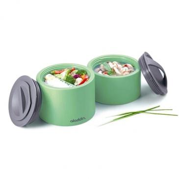 Podwójny Termos obiadowy Aladdin Bento zielony