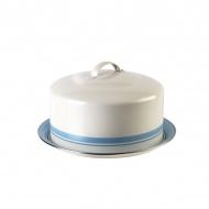 Pojemnik do ciasta Jamie Oliver duży kremowo-błękitny