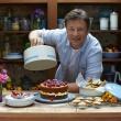 Pojemnik do ciasta Jamie Oliver duży kremowo-błękitny JB8970