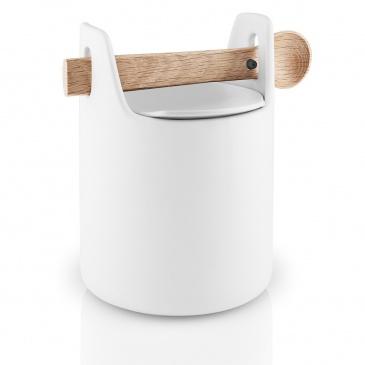 Pojemnik kuchenny z łyżeczką H15 biała