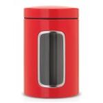 Pojemnik kuchenny z okienkiem 1,4l Brabantia czerwony
