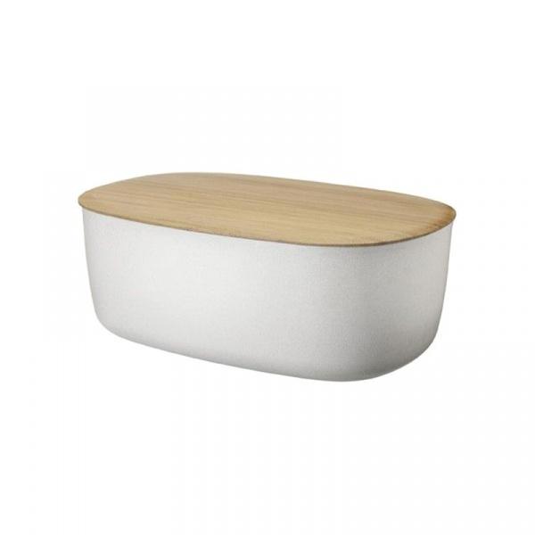 Pojemnik na chleb z deską bambusową Rig-Tig biały Z00038-1