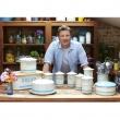 Pojemnik na herbatniki Jamie Oliver kremowo-błękitny JB8980