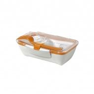 Pojemnik na lunch 500 ml BENTO BOX Black&Blum biało-pomarańczowy