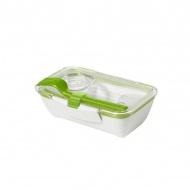 Pojemnik na lunch 500 ml BENTO BOX Black&Blum biało-zielony