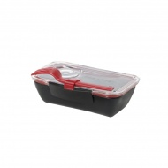 Pojemnik na lunch 500 ml BENTO BOX Black&Blum czarno-czerwony