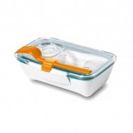 Pojemnik na lunch 500 ml BENTO BOX Black&Blum pomaranczowo-niebieski