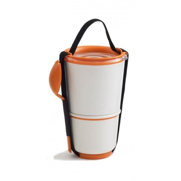Pojemnik na lunch Black+Blum Lunch Pot biało - pomarańczowy LP002