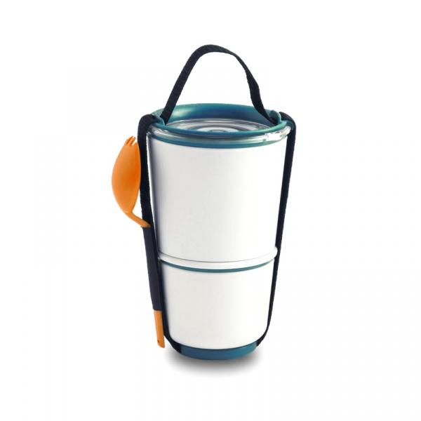 Pojemnik na lunch Black+Blum Pot pomarańczowo-niebieski BP005