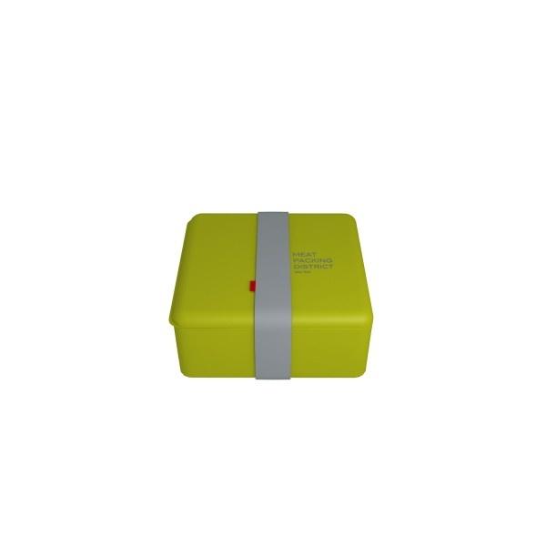 Pojemnik na lunch kwadratowy głęboki Basic zielony 1,1l OM-B31007