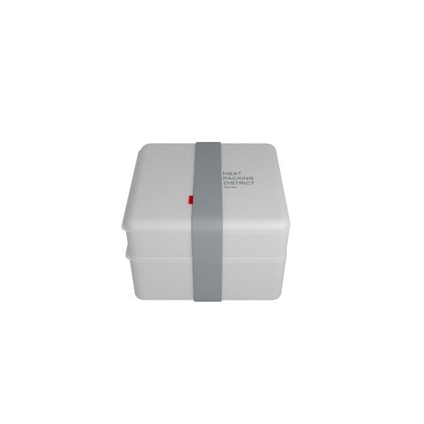 Pojemnik na lunch podwójny Omami Basic biały 0,6l/1,1l OM-B31041