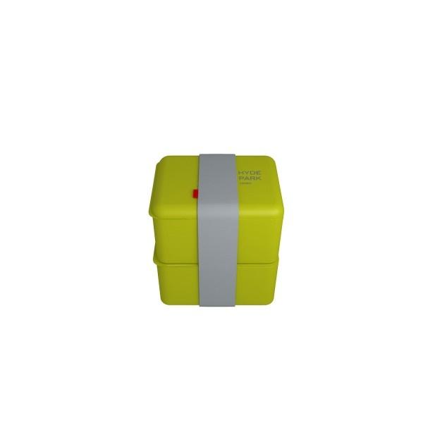 Pojemnik na lunch podwójny Omami Basic zielony 0,5l/0,5l OM-B31077