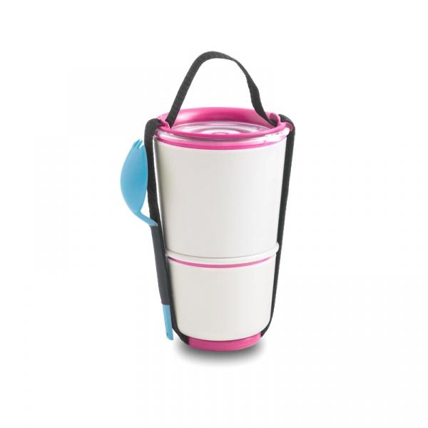 Pojemnik na lunch Pot Black+Blum różowo-niebieski BP002