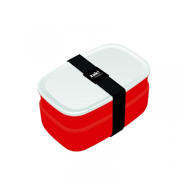 Pojemnik na lunch + sztućce Zak! Designs czerwony 0078-840