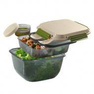 Pojemnik na lunch z wkładem chłodzącym i sztućcami 1500 ml Cilio beżowy