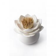 Pojemnik na wykałaczki Lotus biały 10156-WH-WH