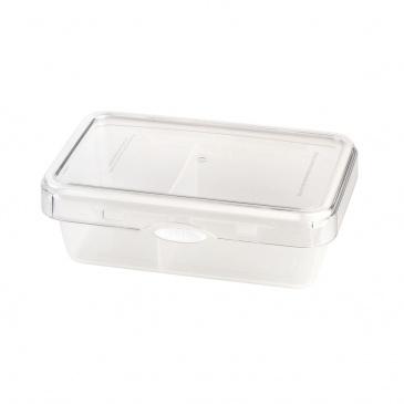 Pojemnik na żywnośćdzielony 980ml Foodie Push&Push biały 26551