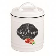 Pojemnik porcelanowy z pokrywą 15 cm Nuova R2S Kitchen Basics