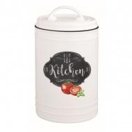 Pojemnik porcelanowy z pokrywą 20 cm Nuova R2S Kitchen Basics