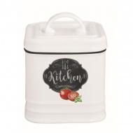 Pojemnik porcelanowy z pokrywą 8x8x11 cm Nuova R2S Kitchen Basics