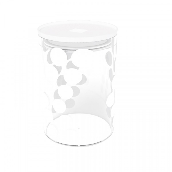 Pojemnik szklany 0,9 L Zak! Design biały 1313-860