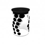 Pojemnik szklany 0,9 L Zak! Design czarny