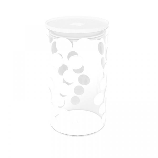 Pojemnik szklany 1,1 L Zak! Design biały 1313-870