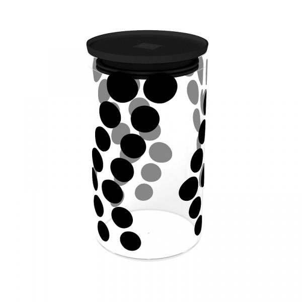 Pojemnik szklany 1,1 L Zak! Design czarny 0015-870