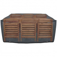 Pokrowiec na drewniany zestaw mebli ogrodowych 200x140x90 cm