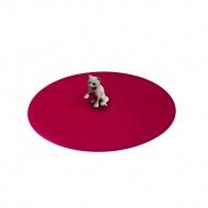 Pokrywka silikonowa z kotem 10,5 cm Lurch czerwona