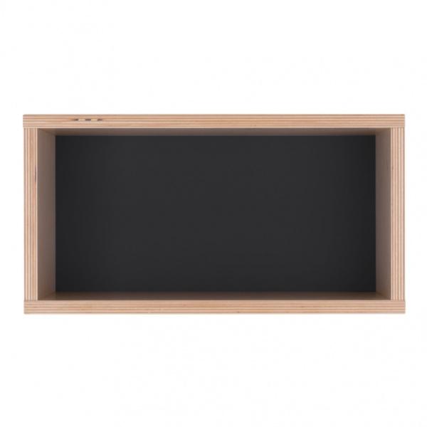 Półka 40x21 Durbas Style Kółko Krzyżyk czarna DUS601