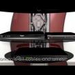 Półka pod TV z maskownicą Ghost Design 2000 Meliconi czerwona 488070