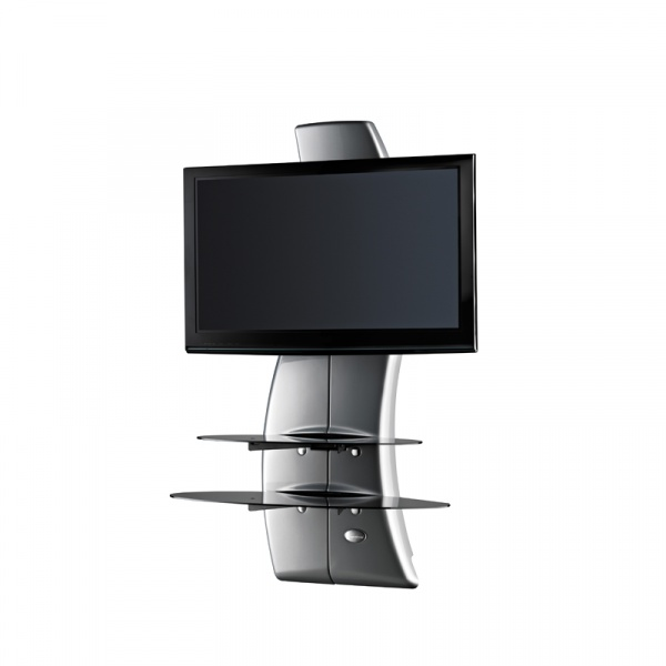 Półka pod TV z maskownicą Ghost Design 2000 Meliconi srebrna 488068