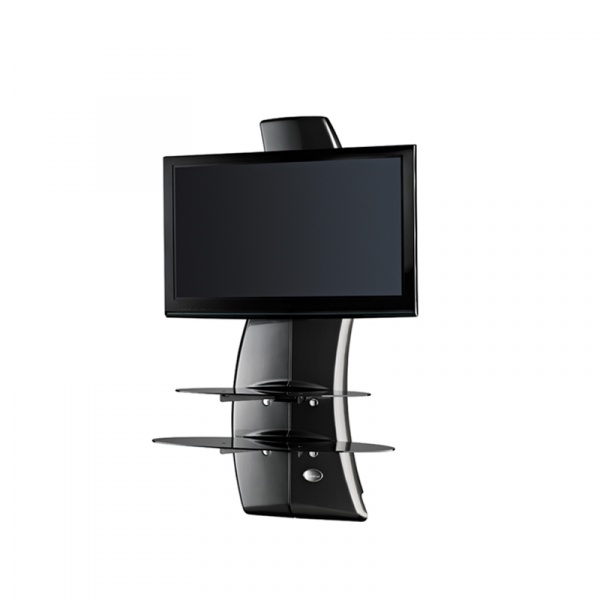 Półka pod TV z maskownicą Meliconi Ghost Design 2000 z rotacją carbon 488088