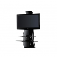 Półka pod TV z maskownicą Meliconi Ghost Design 2000 z rotacją czarna
