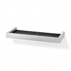 Półka prysznicowa matowa 32,5x13,5x3cm Zack Linea czarno-srebrna