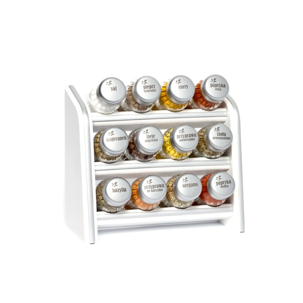 Półka z przyprawami 13 cz. Gald biała 0039