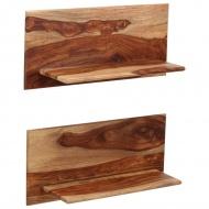 Półki ścienne, 2 szt., 58 x 26 x 20 cm, lite drewno sheesham